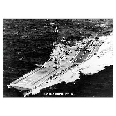 USS RANDOLPH Wall Art Poster