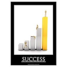Success motivational poster Wall Art Poster
