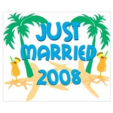 JUST MARRIED 2008 Wall Art Poster
