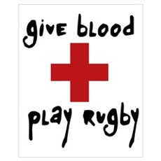 Give Blood, Play Rugby Wall Art Framed Print