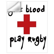 Give Blood, Play Rugby Wall Art Wall Decal