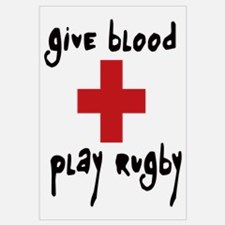 Give Blood, Play Rugby Wall Art
