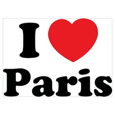 I love Paris Wall Art Poster