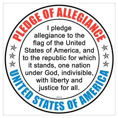 Pledge of Allegiance Wall Art Framed Print