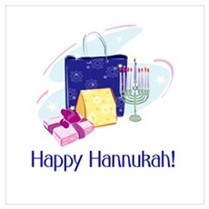 Happy Hannukah! Wall Art Poster