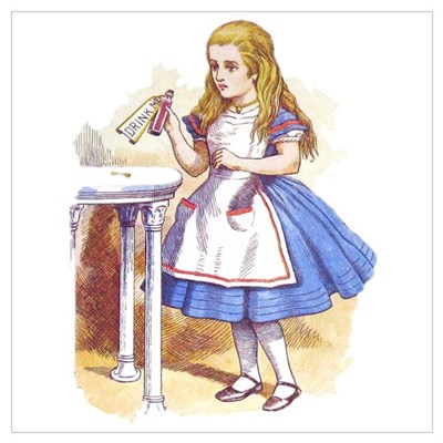 Alice in Wonderland Wall Art Poster