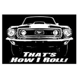 Classic cars mustang Wrapped Canvas Art