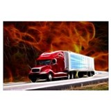 Tractor trailer Wrapped Canvas Art