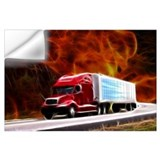 Tractor trailer Wall Decals