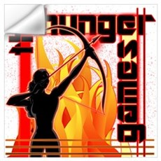 Katniss on Fire Hunger Games Gear Wall Art Wall Decal