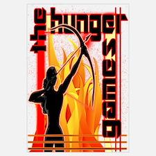 Katniss on Fire Hunger Games Gear Wall Art