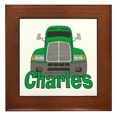 Trucker Charles Framed Tile