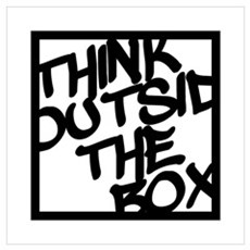 Think Outside the Box Wall Art Poster
