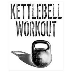 Kettlebell Workout Wall Art Poster