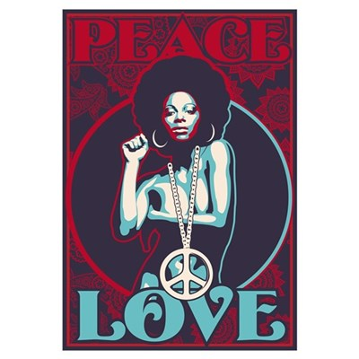 Peace and Love Canvas Art