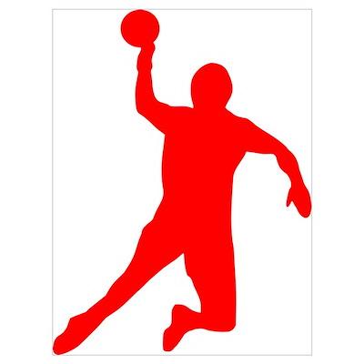 Handball Wall Art Poster