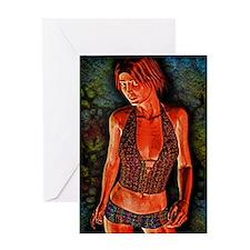 Grunge Girl Greeting Card