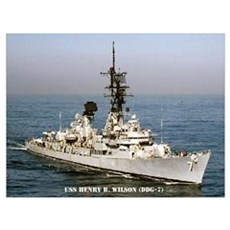 USS HENRY B. WILSON Wall Art Poster