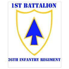 DUI - 1st Bn - 26th Infantry Regt with Text Mini P Canvas Art