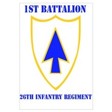 DUI - 1st Bn - 26th Infantry Regt with Text Mini P
