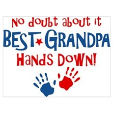 Hands Down Best Grandpa Wall Art Canvas Art
