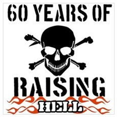 60 years of raising hell Wall Art Canvas Art