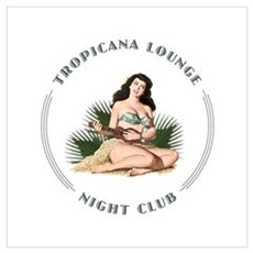 Tropicana Lounge Girl 3 Wall Art Framed Print