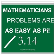 Mathematicians Problems are a Wall Art Poster