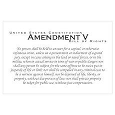 Amendment V Wall Art Poster