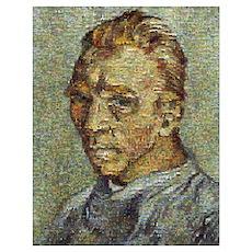 Van Gogh Mosaic Wall Art Poster
