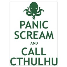 Panic Scream and Call Cthulhu Wall Art Canvas Art