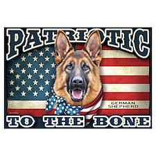 Patriotic - German Shepherd Wall Art