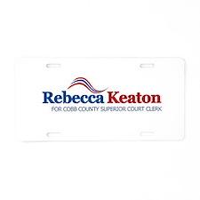 Cute Keaton Aluminum License Plate