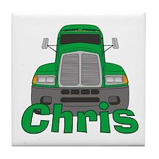 Trucker Chris Tile Coaster