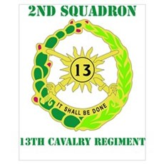 DUI - 2nd Sqdrn - 13th Cav Regt with Text Mini Pos Poster