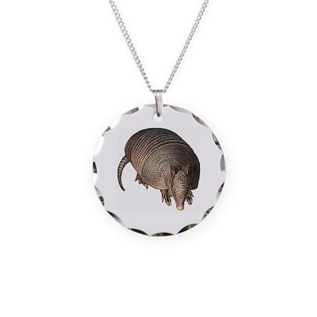 Armadillo Necklace Circle Charm