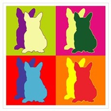 French Bulldog Silhouette Pop Art Wall Art Framed Print