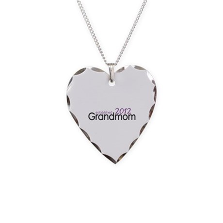 Grandmom Established 2012 Necklace Heart Charm