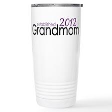 Grandmom Established 2012 Travel Mug