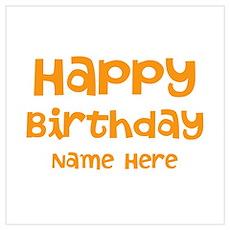 Custom Name. Birthday. Wall Art Poster