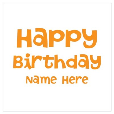 Custom Name. Birthday. Wall Art Framed Print