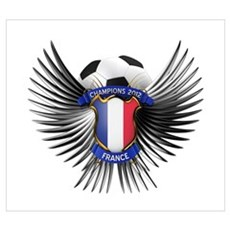 France 2012 Soccer Champions Wall Art Poster