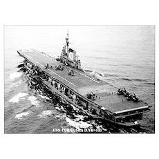 USS CORAL SEA Wall Art Poster