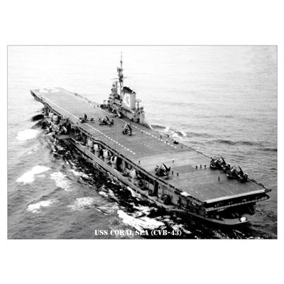 USS CORAL SEA Wall Art Poster