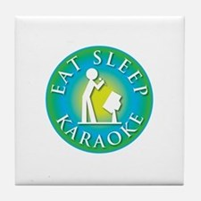 Eat Sleep KARAOKE Tile Coaster