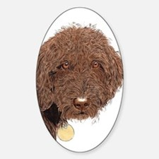 Chocolate Labradoodle 2 Decal