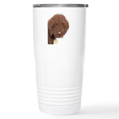Chocolate Labradoodle 2 Stainless Steel Travel Mug