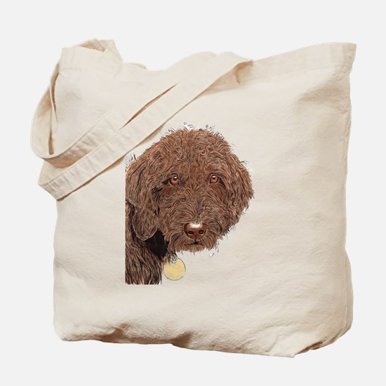 Chocolate Labradoodle 2 Tote Bag