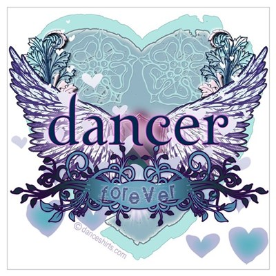 dancer forever by DanceShirts.com Wall Art Framed Print
