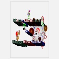 Merry Christmas & Happy New Y Wall Art